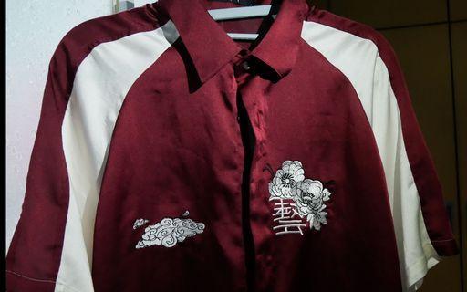 刺繡雪紡襯衫