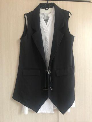 Black Vest with inner