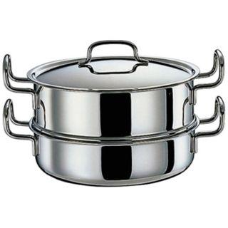 《日本geo鍋具》七層構造萬用無水鍋‧雙層蒸鍋25cm款