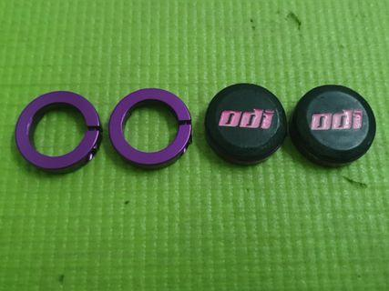 Odi ruffian purple clamp with titanium bolts