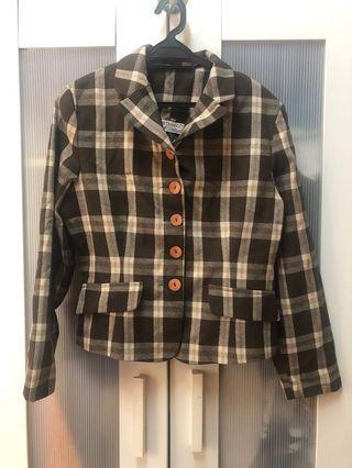 Brown checkered jacket