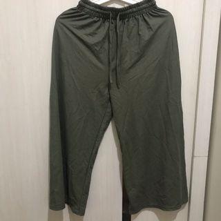 墨綠 軍綠寬褲