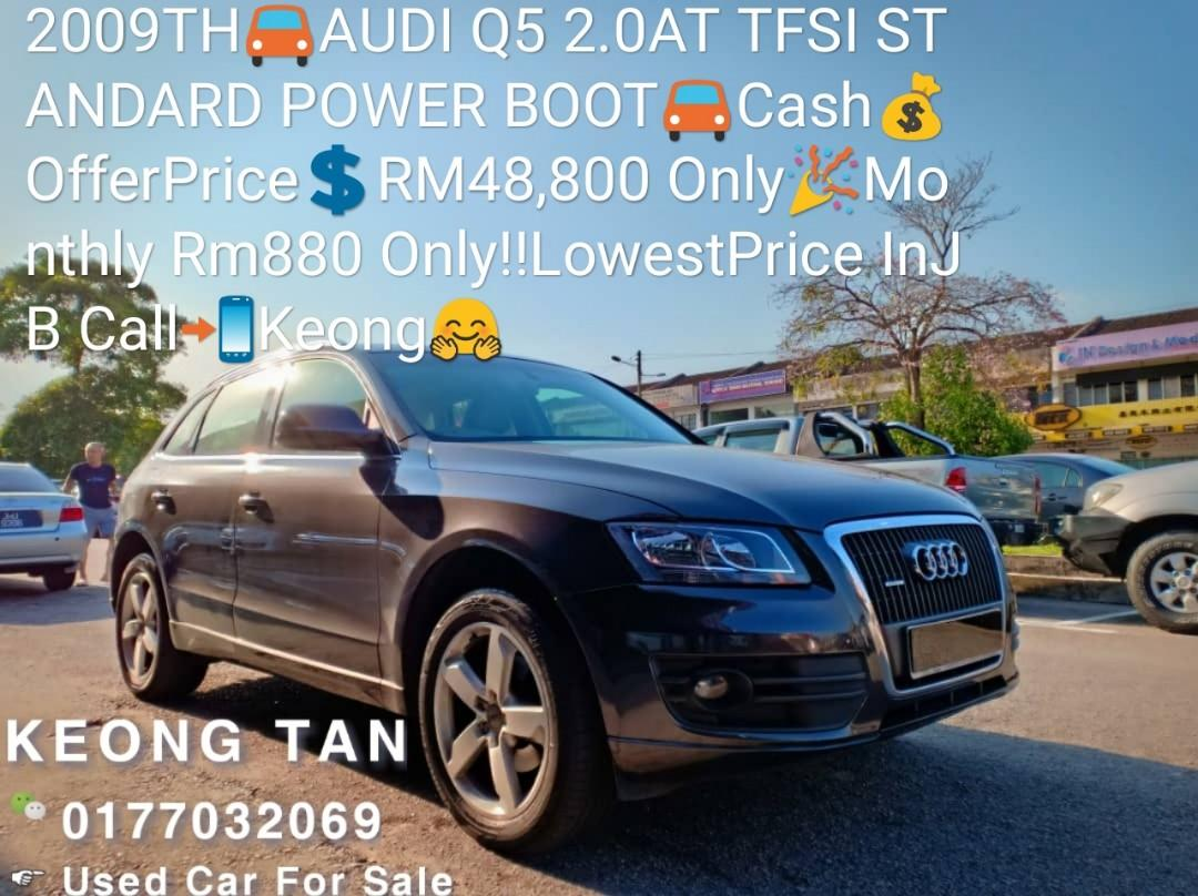 2009TH🚘AUDI Q5 2.0AT TFSI STANDARD POWER BOOT🚘Cash💰OfferPrice💲RM48,800 Only🎉Monthly Rm880 Only‼ LowestPrice InJB Call📲Keong🤗