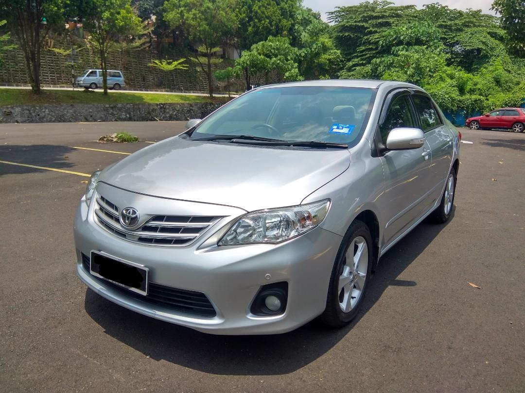 2011 TOYOTA ALTIS 1.8 (A) DUAL VVT-i FULL SERVICE RECORD LOW MILEAGE 1 OWNER ONLY.