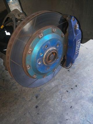 Endless 6 pot brake kit for volkswagen