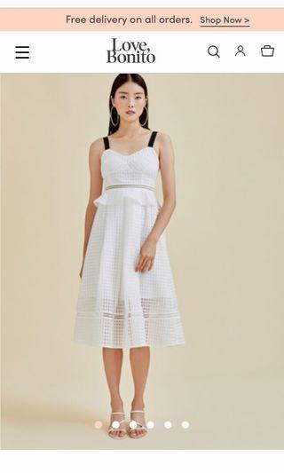 Shiloh Organza Midi Dress