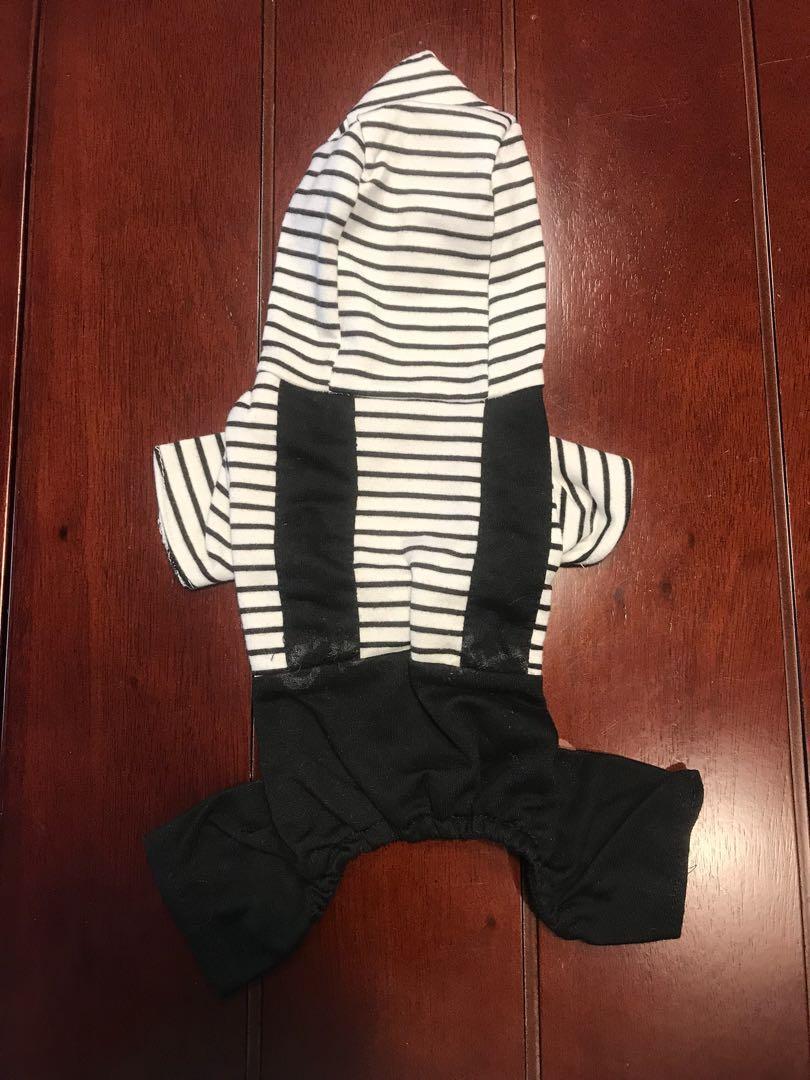 3pcs Jumpsuit Anjing Kostum (LD 35cm)