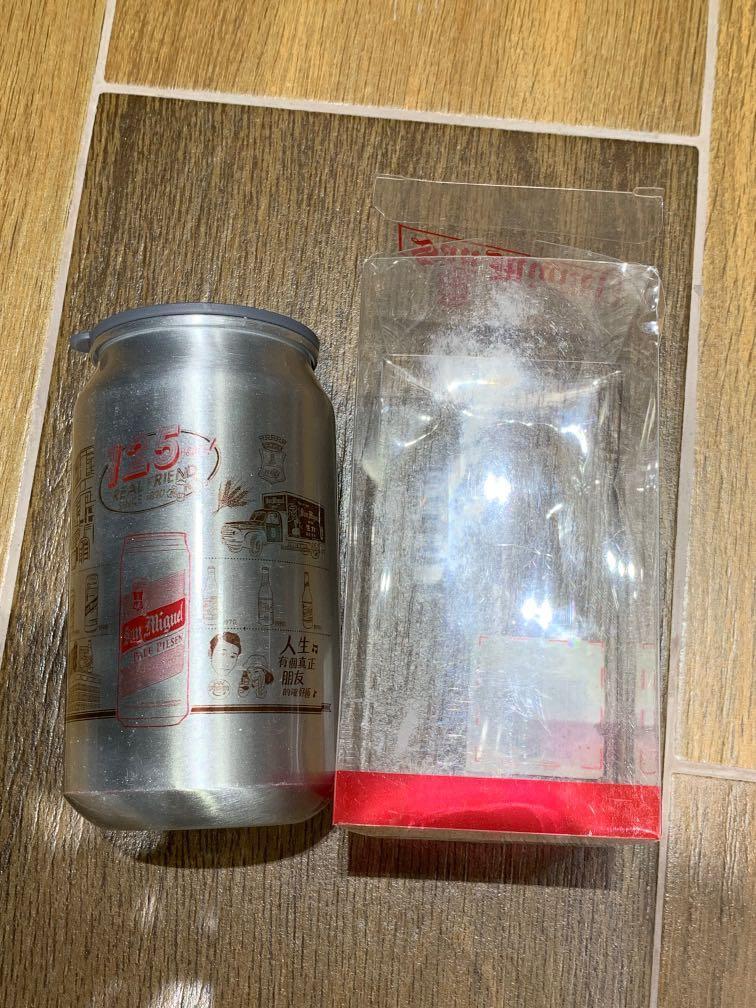 生力啤酒 125週年 金屬罐水杯