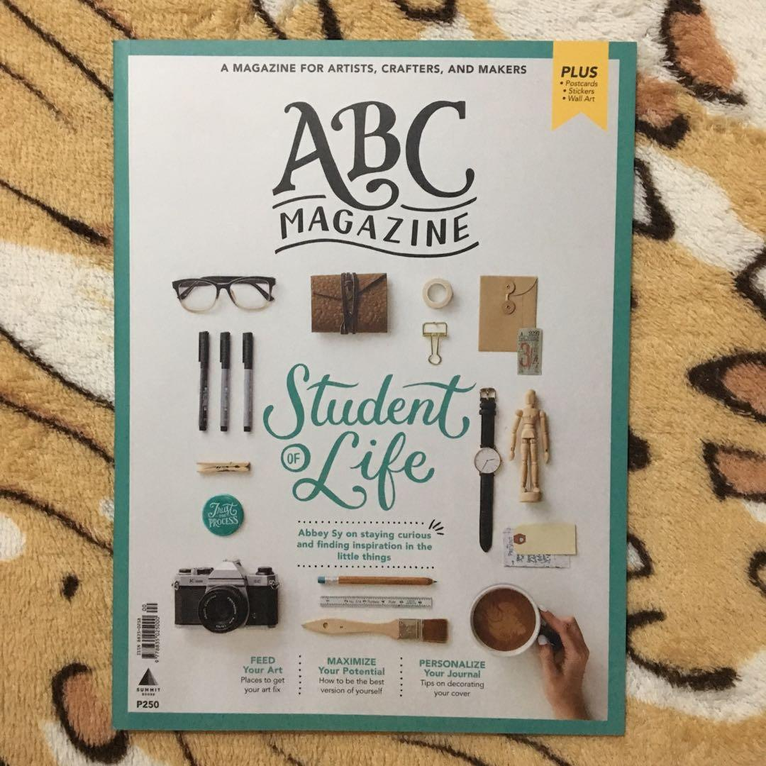 ABC MAGAZINE Student of Life by Abbey Sy - a magazine for artists, crafters, and makers
