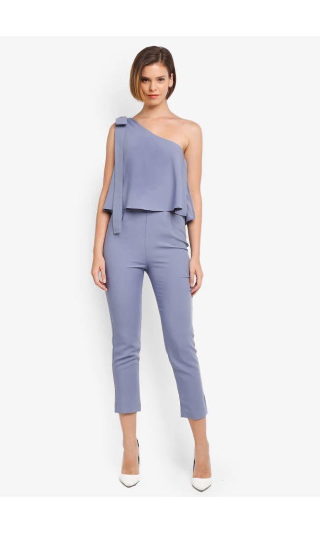 Asymmetrical toga jumpsuit