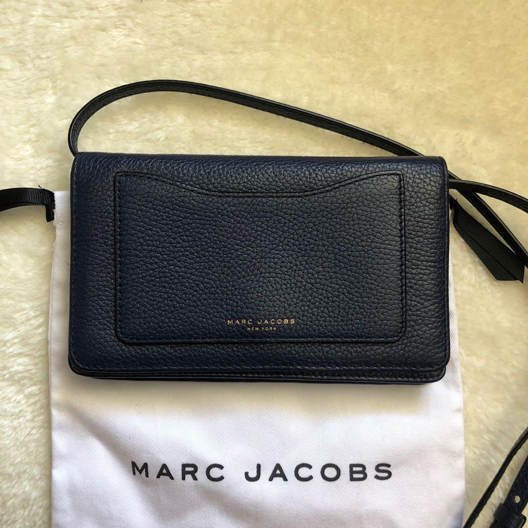 Authentic MARC JACOBS Recruit leather crossbody wallet