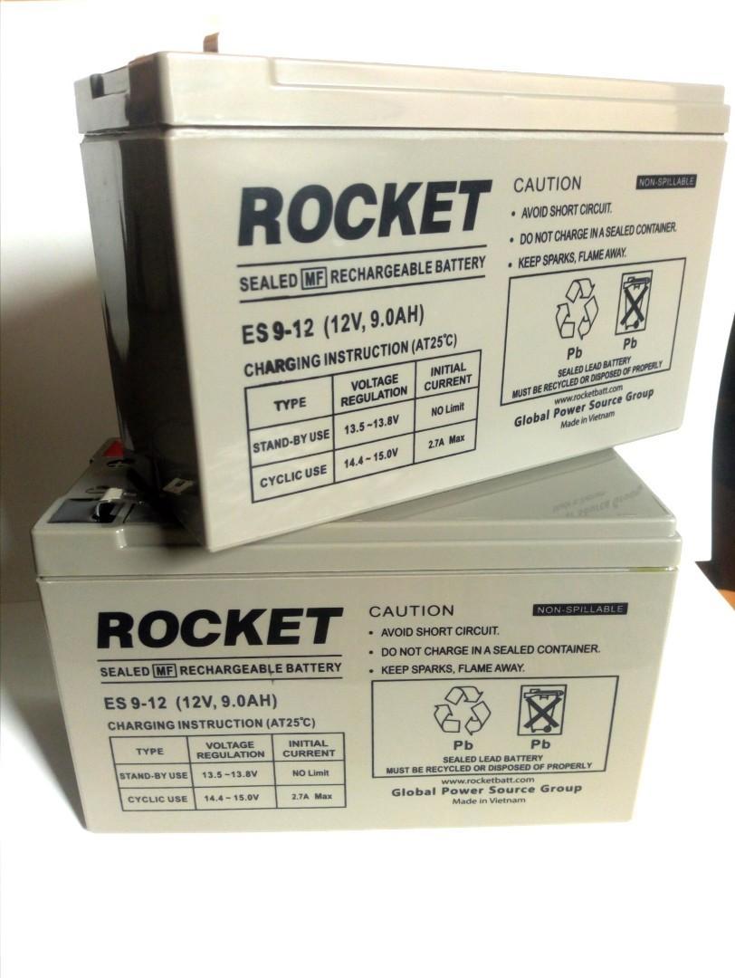 Baterai VRLA UPS Aki Kering 12V 9Ah Rocket ES9-12