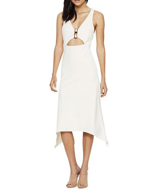 Bec and Bridge Nature's Elements Cut Out Dress in Ivory 8