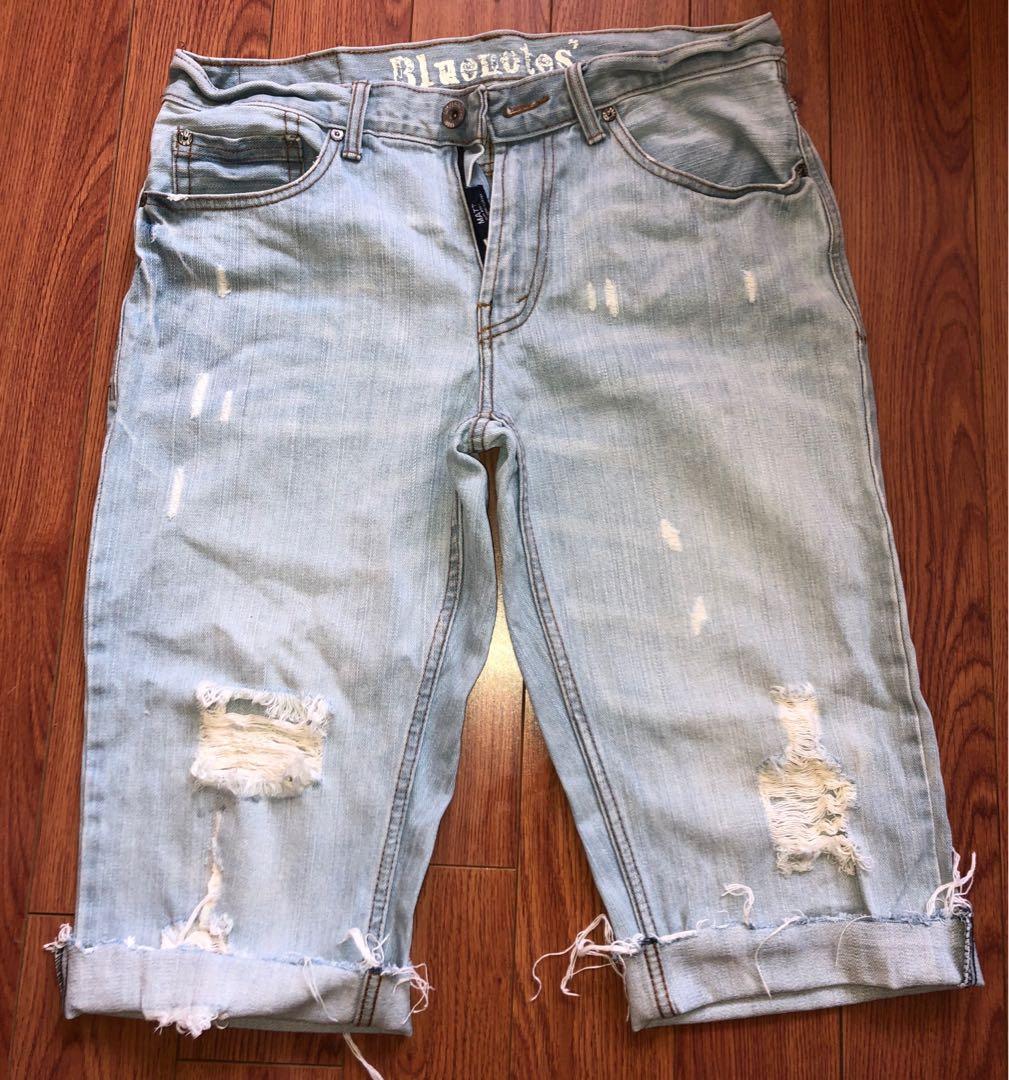 Bluenotes Light Distressed Denim  Wash Jean Shorts
