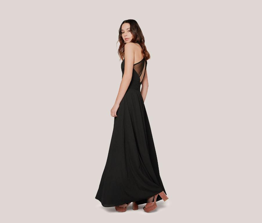 BNWT FAME & PARTNERS BLACK THE MAISIE FORMAL DRESS - SIZE 6 AU (RRP $339)