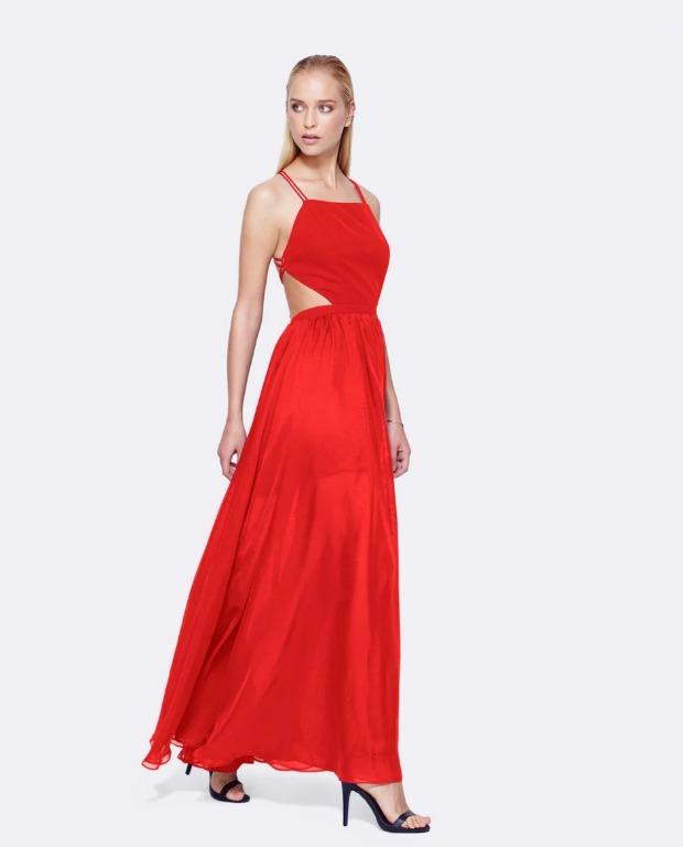 BNWT FAME & PARTNERS RED MILDRED DRESS - SIZE 12 AU (RRP $259)
