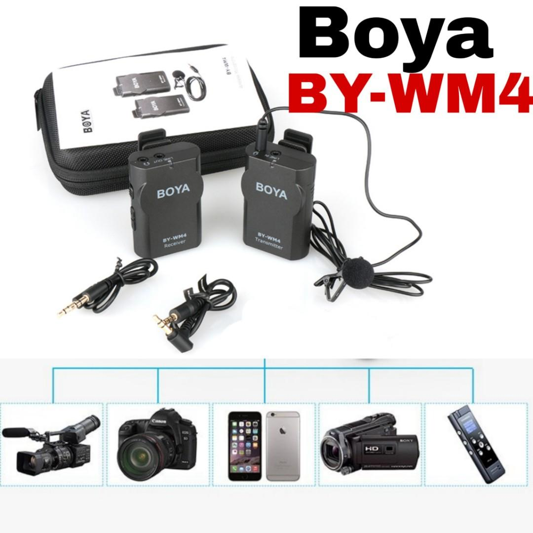 Boya By Wm4 Wireless Microphobe For Pc Camera Ipod Tap Video Cam
