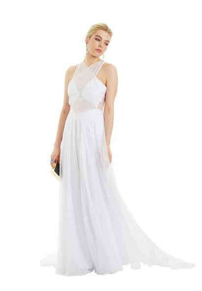 BRAND NEW WITH TAGS FAME & PARTNERS WHITE IMOGEN GOWN - SIZE 16 AU (RRP $299)