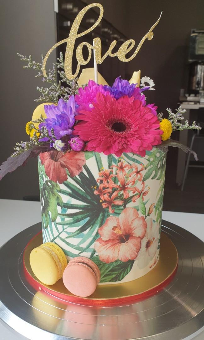 Wondrous Cake Topper Flower Cake Edible Image Birthday Cakes Wedding Funny Birthday Cards Online Alyptdamsfinfo