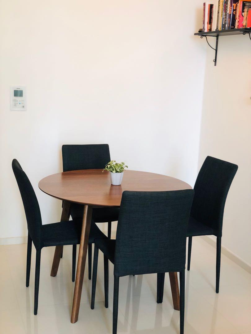 Dining Table Set Table 4 Chairs Furniture Tables