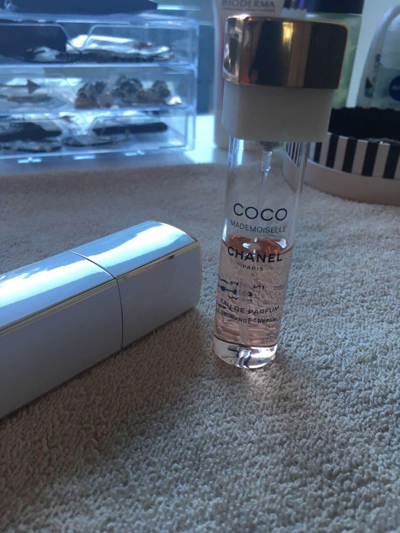 Chanel  Coco Mademoiselle Travel with half perfume left