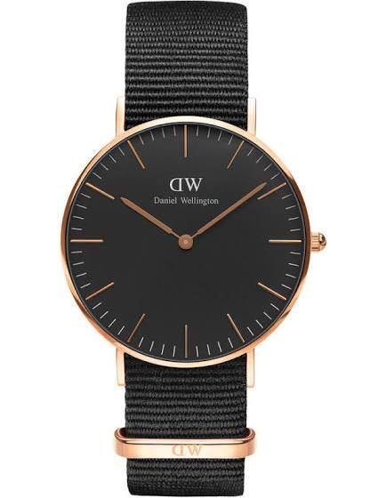 Daniel Wellington Classic Cornwall 36mm Gold Watch Black