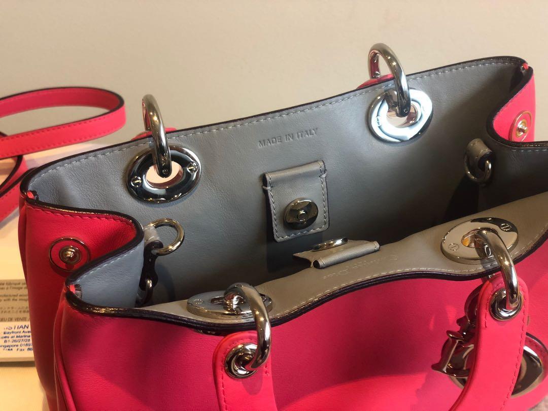 Dior Pink Leather Mini Diorissimo Tote Bag shoulder bag