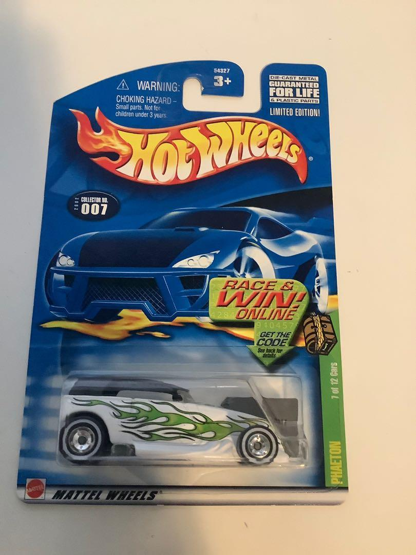Hot wheels 2001 SUPER TREASURE HUNT phaeton rare limited edition diecast car with real riders