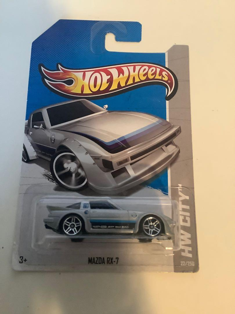 Hot wheels TREASURE HUNT 2012 Mazda RX-7 rare collectible diecast car