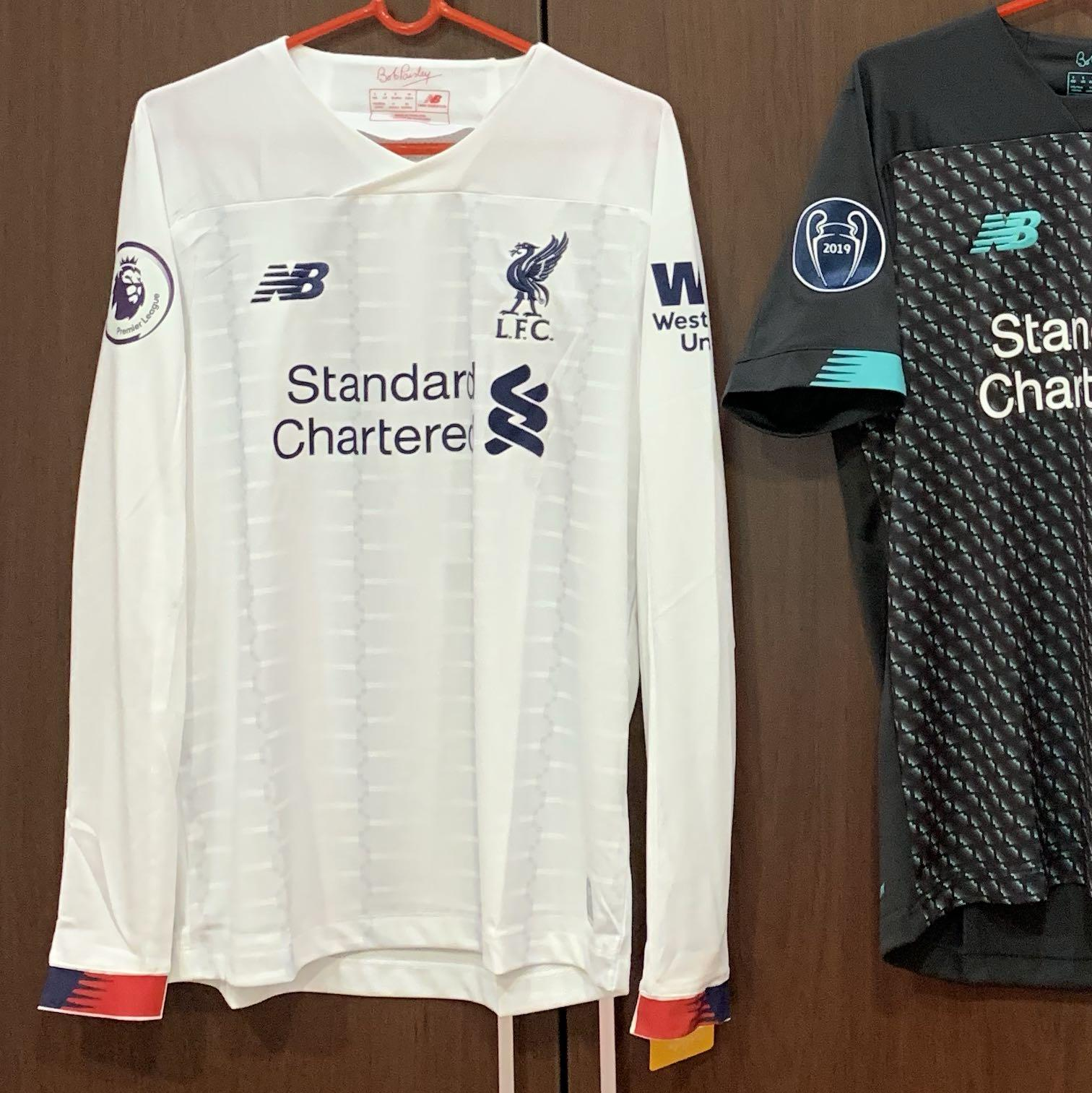 brand new 8f355 d2c20 Liverpool 19/20 white away jersey Virgil, Sports, Sports ...