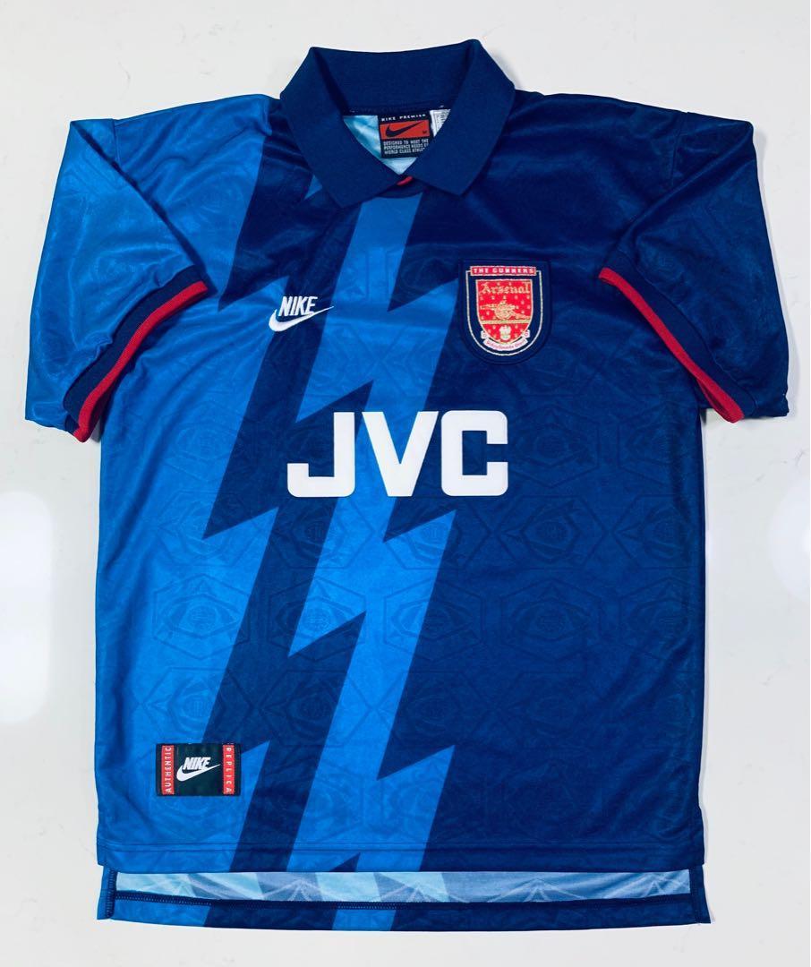 new product 2f0d2 5276c Nike Arsenal 1995/1996 Dennis Bergkamp away kit size M ...