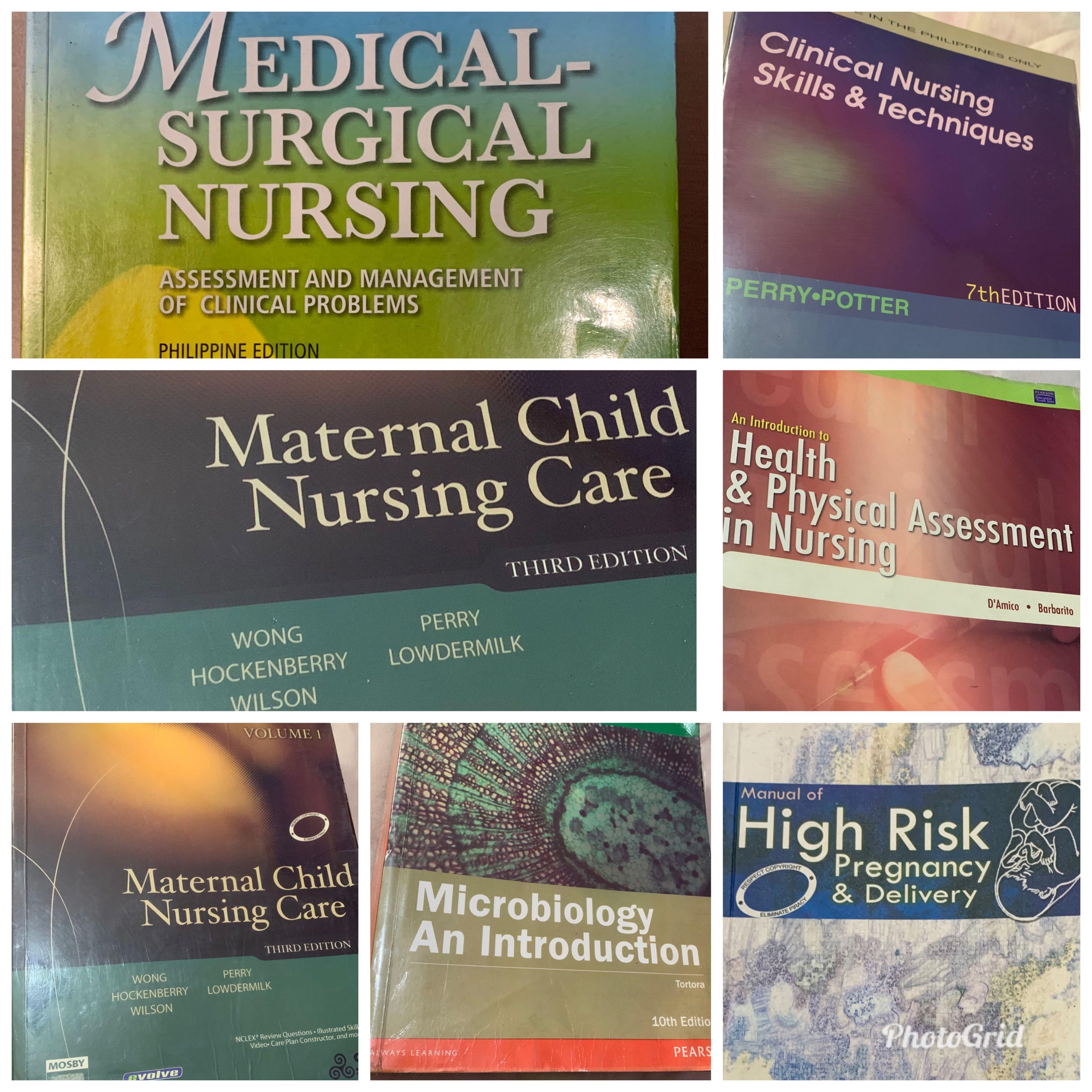 NURSING BOOKS FOR Php150-400 |  UST NURSING |CHEAP | IN GREAT CONDITION! RESPONSIVE AND ASAP SHIPPING