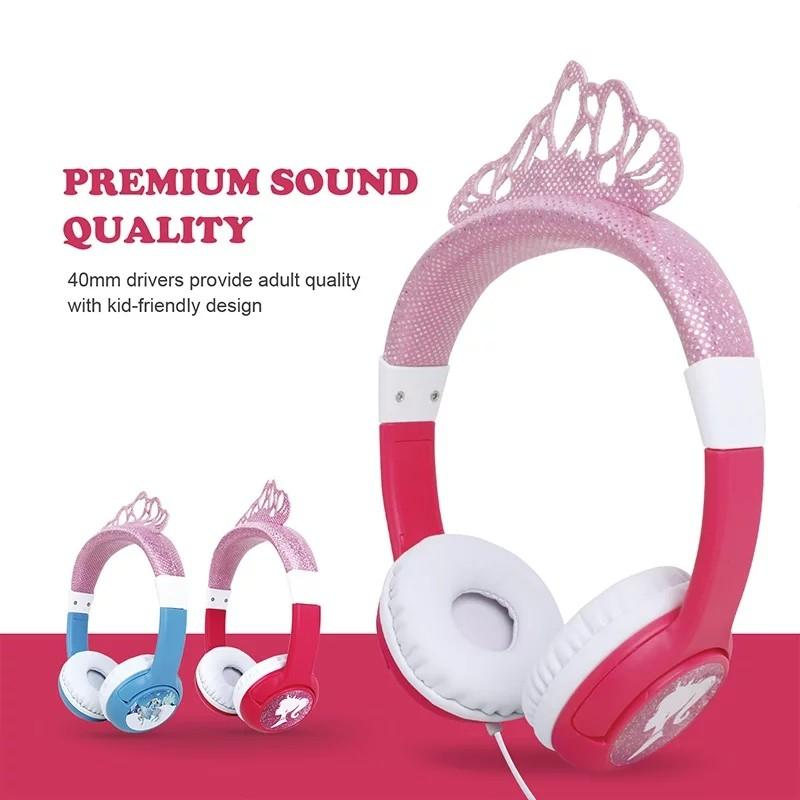 Oneodio Cute Cartoon Frozen Headband Headset
