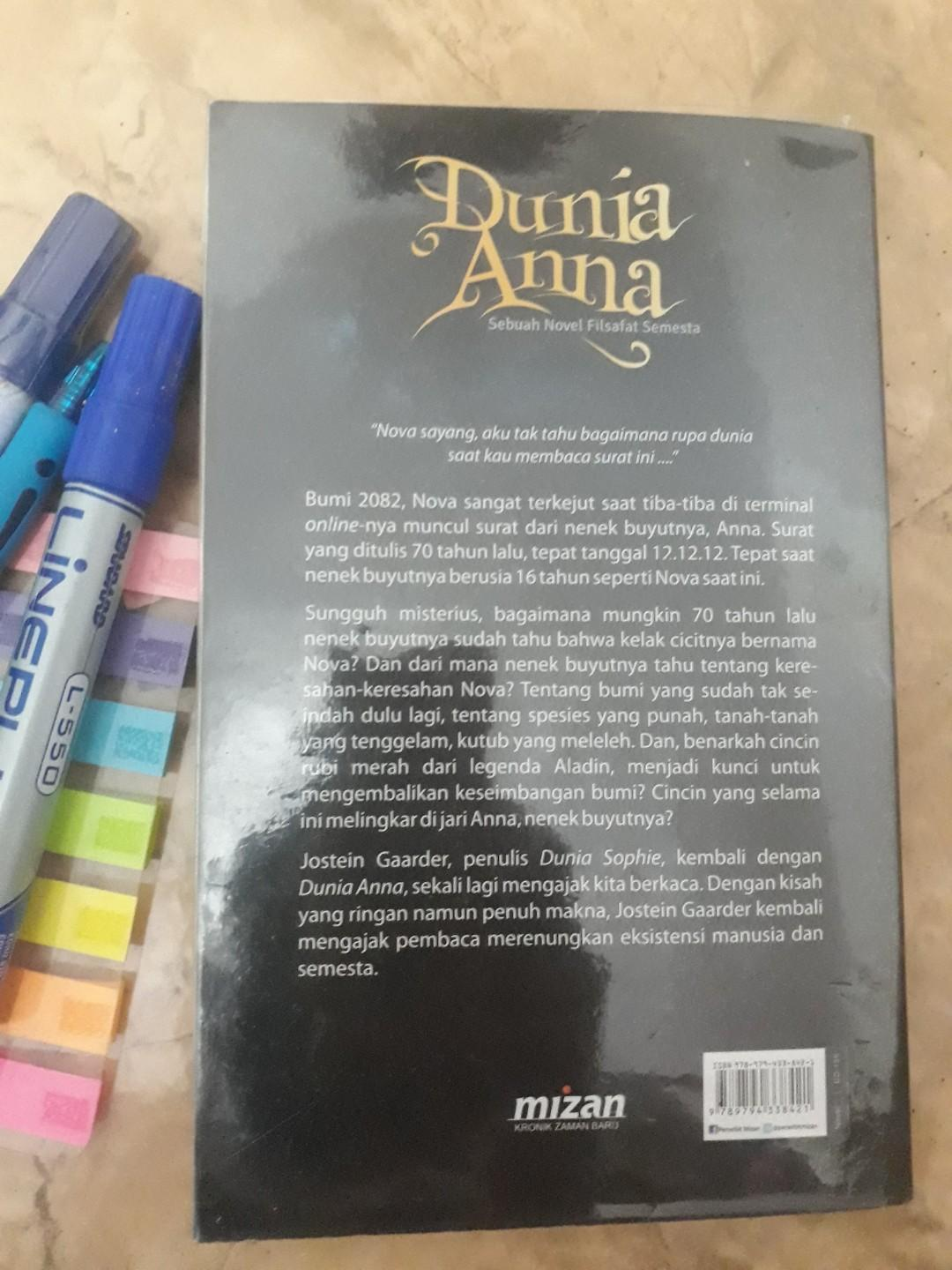 Preloved Novel Dunia Anna