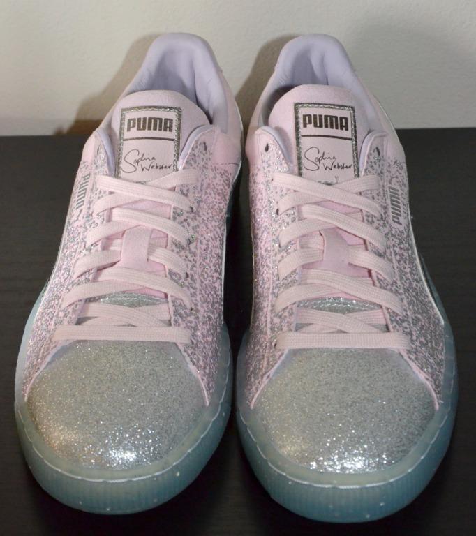 Puma x Sophia Webster Pink Glitter Classic Unisex Sneakers