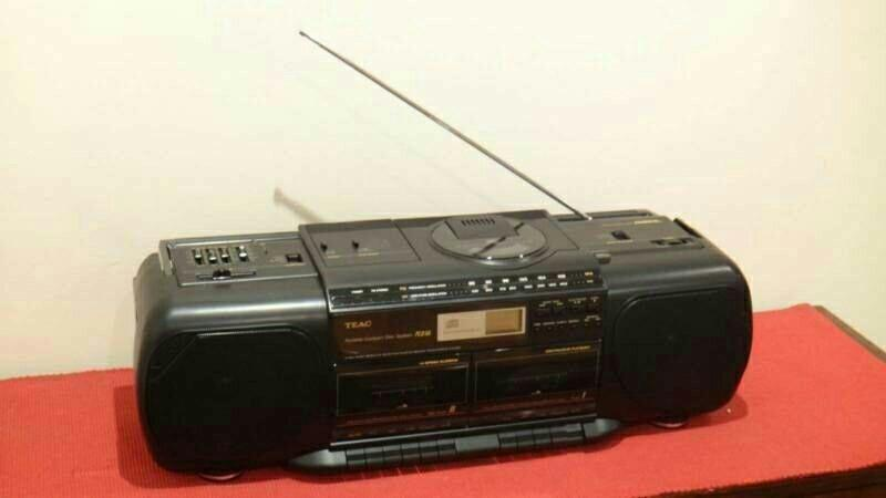Retro TEAC Boombox Cassette CD Player - Looks LIke New in Box!!