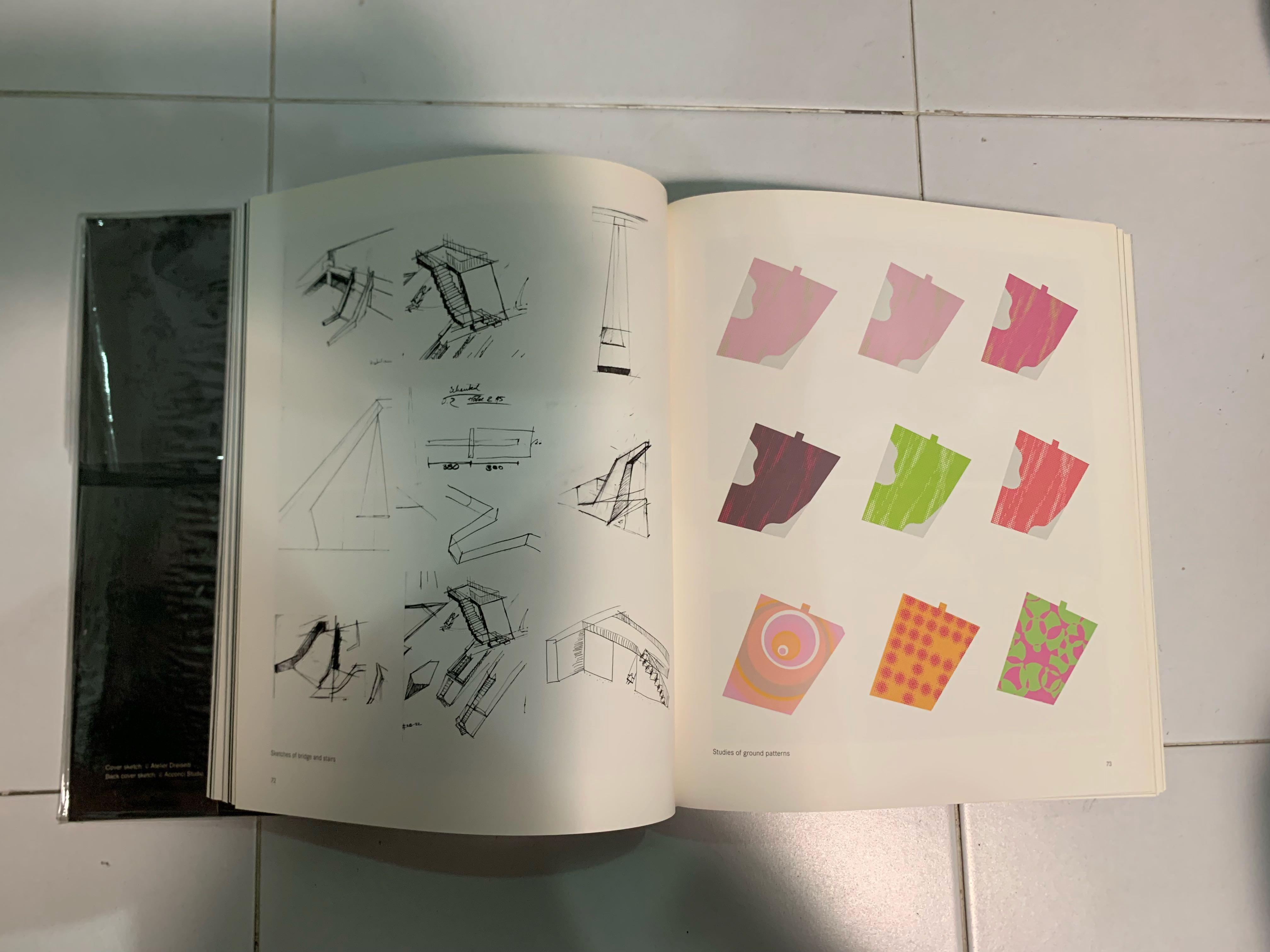 Sketch landscape. Architecture books