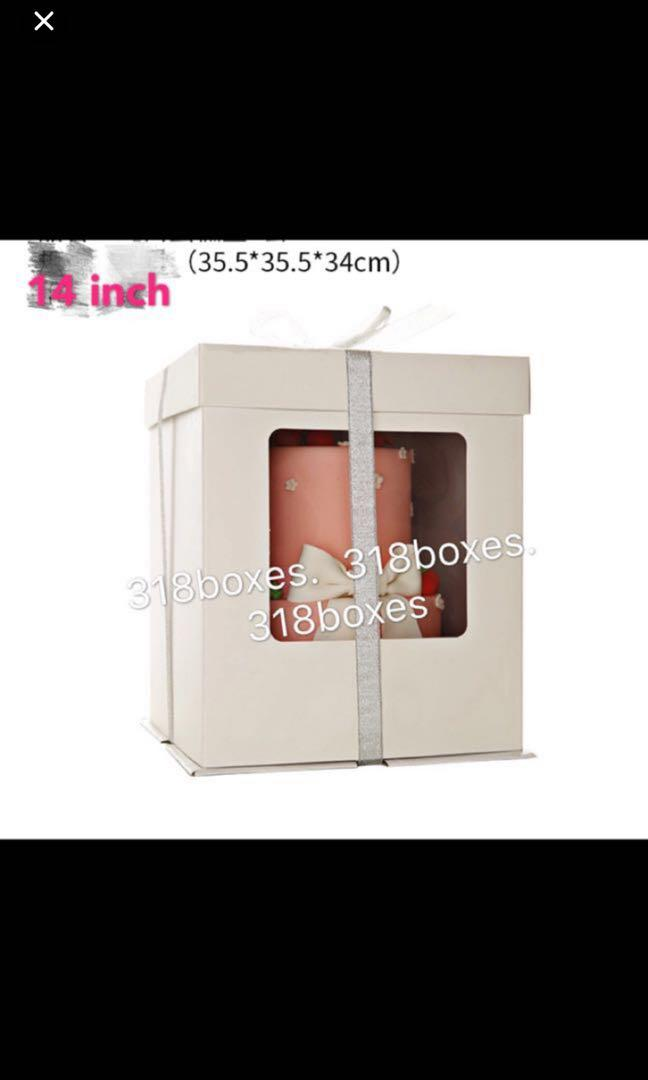 Tall 2 tier cake box gift box party transparent