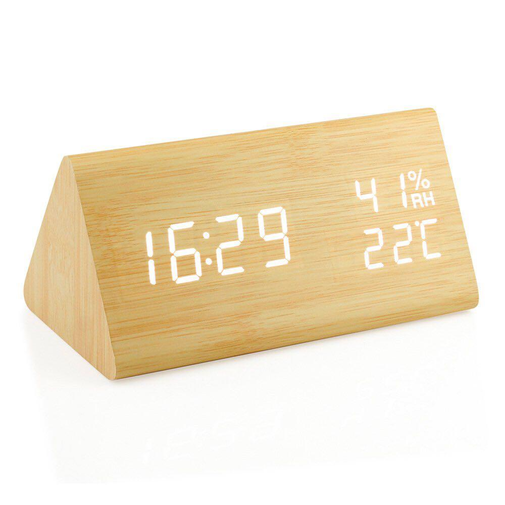 Unique Prism Wooden Led Digital Clock Everything Else On Carousell