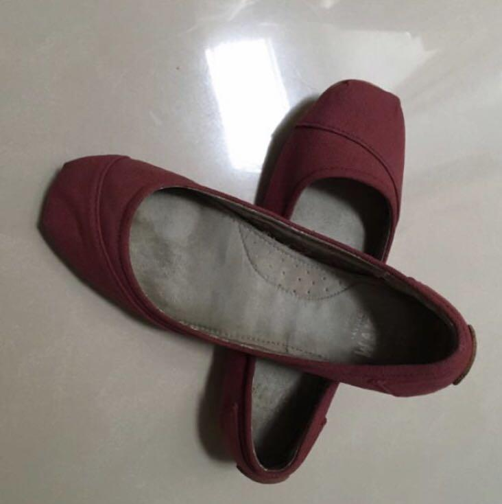 Wakai original flat shoes red merah