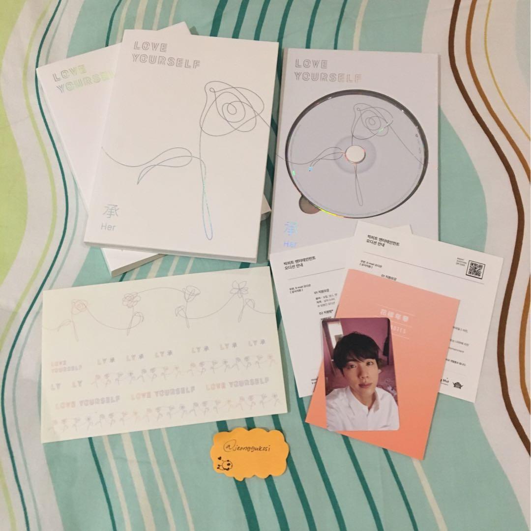 [WTS] BTS Love Yourself 'Her' Jin / Seokjin L Version Album