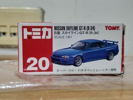 TOMICA GTR R34 絕版