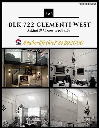 HDB for Sale! Blk 722 Clementi West