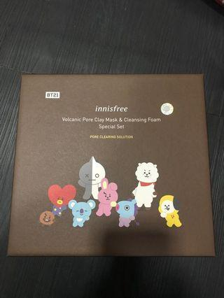 (WTS) BTS BT21 x Innisfree Volcanic Pore Clay Mask & Cleansing Foam Special Set