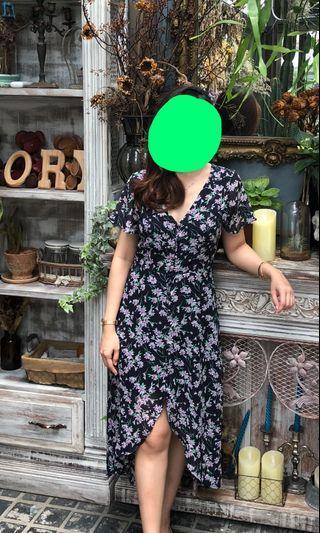Mididress, floral dress