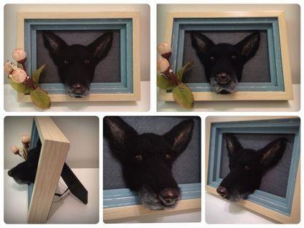 客製羊毛氈寵物肖像相框