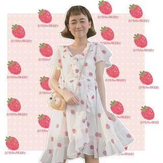 仙女草莓連衣裙洋裝