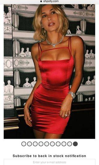Oh polly Red mini dress