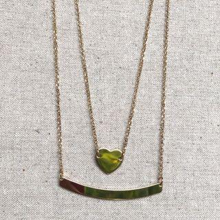 Italian Gold double chain necklace
