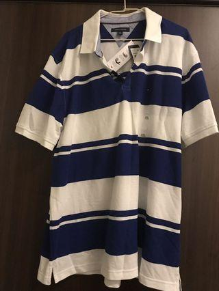 Tommy 藍白polo衫